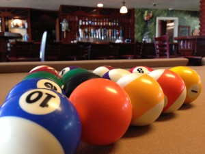 pool balls w bar background